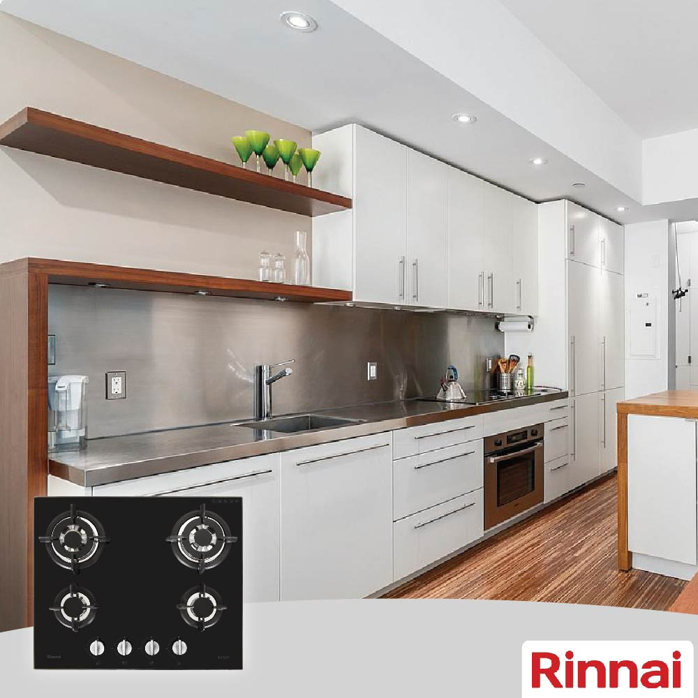 Rinnai Built In Hobs RB-64G, 100% Safety Device!