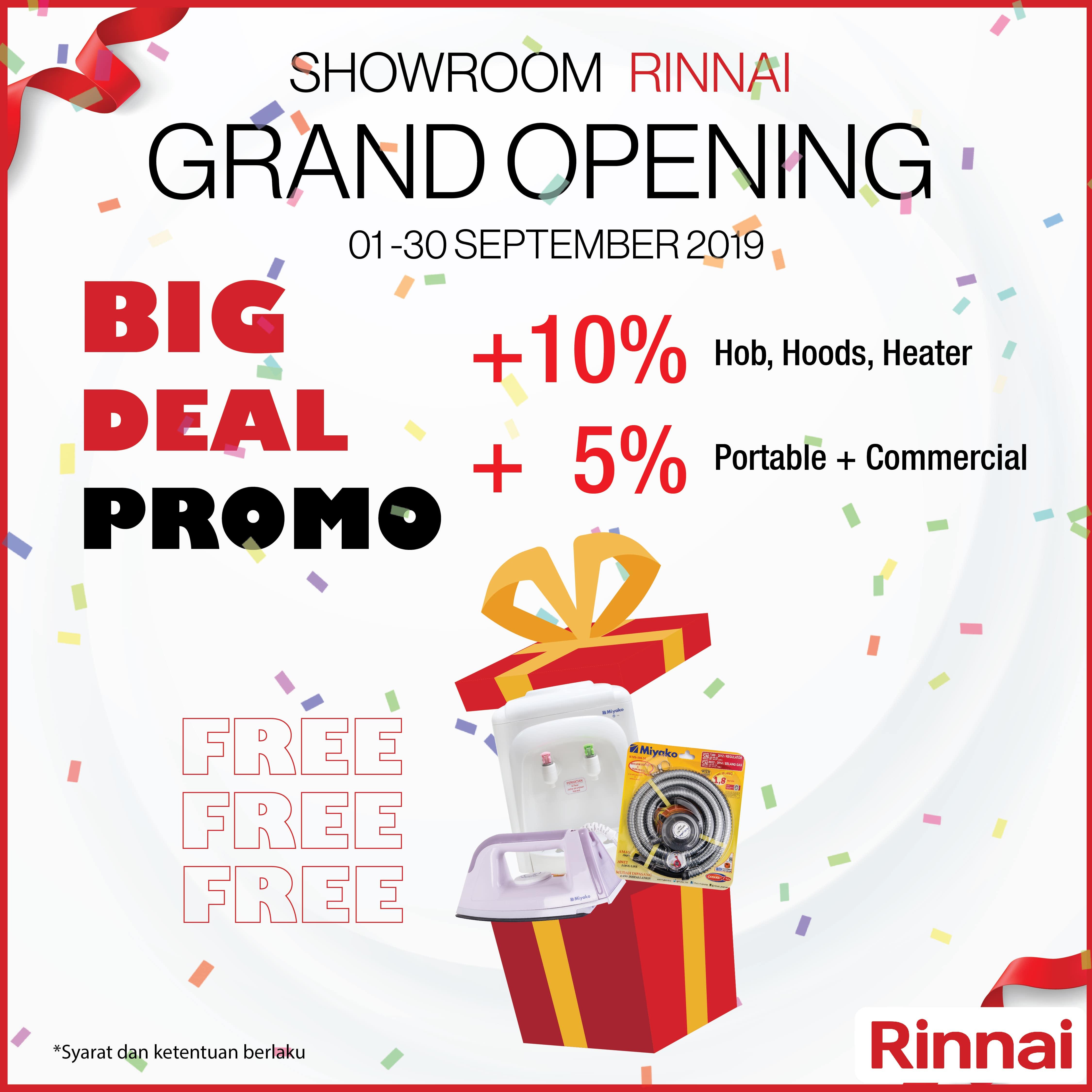 Grand Opening Rinnai Showroom!