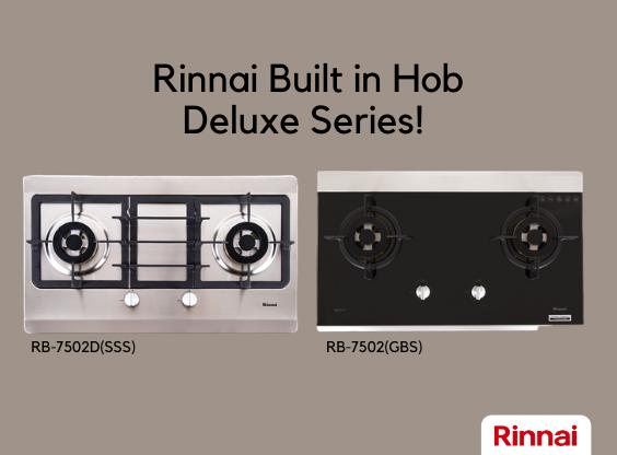Cari Kompor gas Tanam? Rinnai Built in Hob Deluxe Series Pilihannya!