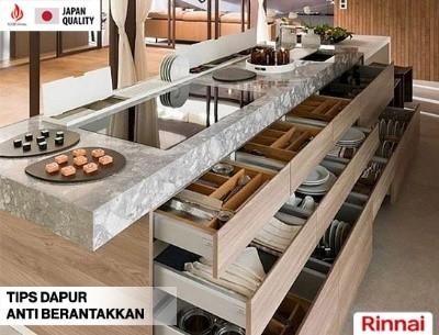 Tips Dapur Anti Berantakkan ala Rinnai Indonesia